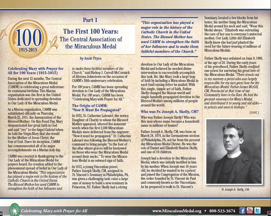 100 Years – Central Association of the Miraculous Medal
